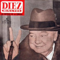 Coleccionismo de Revista Diez Minutos: DIEZ MINUTOS Nº 701, MUERTE Y ENTIERRO DE CHURCHILL, ALEXANDRA STEWART, MICHAEL CHAPLIN. Lote 31803808