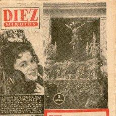 Coleccionismo de Revista Diez Minutos: REVISTA DIEZ MINUTOS AÑO 1958 Nº 344, SEMANA SNATA, ASESINO DEL CREPUSCULO, FAMILIA IMPERIAL RUSA. Lote 31879550