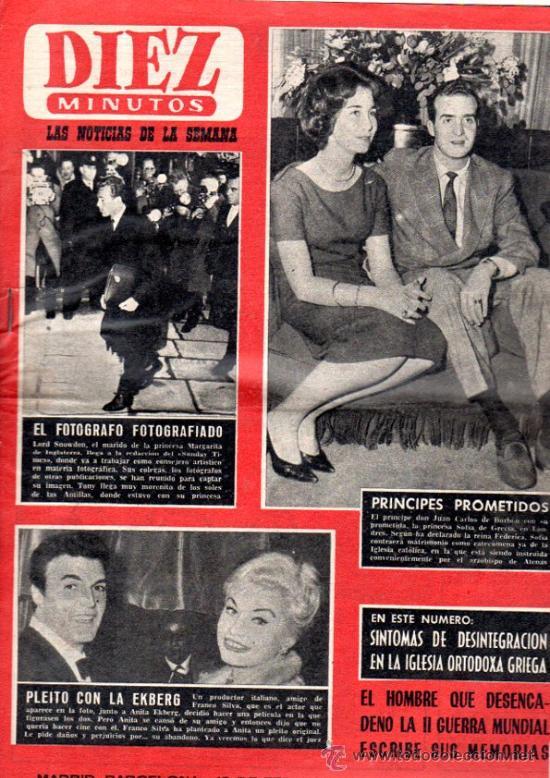REVISTA DIEZ MINUTOS, 1962, AÑO XII, Nº 546, MARGARITA DE INGLATERRA, JUAN CARLOS BORBÓN Y SOFÍA (Coleccionismo - Revistas y Periódicos Modernos (a partir de 1.940) - Revista Diez Minutos)