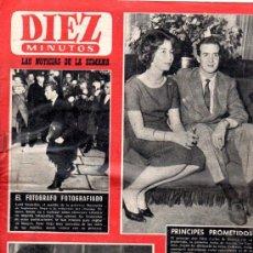 Coleccionismo de Revista Diez Minutos: REVISTA DIEZ MINUTOS, 1962, AÑO XII, Nº 546, MARGARITA DE INGLATERRA, JUAN CARLOS BORBÓN Y SOFÍA . Lote 31950705