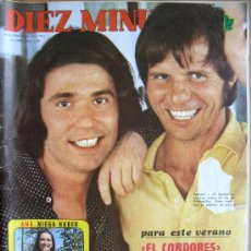 "Coleccionismo de Revista Diez Minutos: DIEZ MINUTOS Nº1140- 30/6/73-""EL CRDOBES"" Y RAPHAEL-JOAN MANUEL SERRAT-ESPARTACO SANTONI. Lote 85406164"