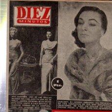 Coleccionismo de Revista Diez Minutos: REVISTA DIEZ MINUTOS, Nº 139, 1954,AVA GARDNER, CHAUMET, ADRIANA BISACCIA, FAKIR IVON IVA. Lote 192881130