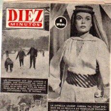 Coleccionismo de Revista Diez Minutos: REVISTA DIEZ MINUTOS, Nº 130, 1954, JOANNE JORDAN, TESORO DE FARUK, RAMÚ, EL NIÑO LOBO, ALI KHAN. Lote 33070827