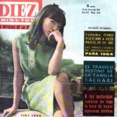 Coleccionismo de Revista Diez Minutos: REVISTA DIEZ MINUTOS, 1964, AÑO XIV, 648, NOSTRADAMUS, FAMILIA SALGARI, REINA ISABEL, TINY YONG. Lote 33084614