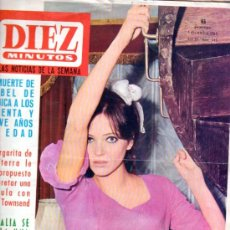 Coleccionismo de Revista Diez Minutos: REVISTA DIEZ MINUTOS, 1965, AÑO XV, 745, ISABEL DE BÉLGICA, MARGARITA, ANNA KARINA, PETER TOWNSEND. Lote 33084653