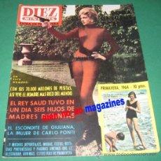 Coleccionismo de Revista Diez Minutos: DIEZ MINUTOS EXTRAORDINARIO PRIMAVERA 1964 ~BODA REAL~MARIA CALLAS~JEAN SEBERG~MINA~QUINTILLIZOS. Lote 33684950