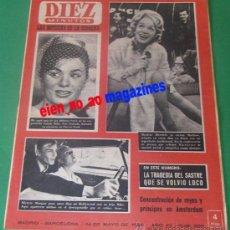 Coleccionismo de Revista Diez Minutos: DIEZ MINUTOS 559/1962~MARLENE DIETRICH~FARAH DIBA~MICHELE MORGAN~SOPHIA LOREN~VERA BRUHNE. Lote 33685727