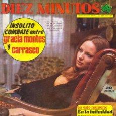 Coleccionismo de Revista Diez Minutos: REVISTA DIEZ MINUTOS / 1974 / MARY FRANCIS,POSTER DE FORGES.. Lote 170367233