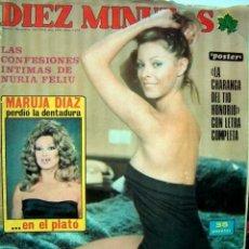 Coleccionismo de Revista Diez Minutos: REVISTA DIEZ MINUTOS / RAFFAELLA CARRA, ROSARIO FLORES, CARMEN PLATERO, AMPARO MUÑOZ, MARISA MEDINA. Lote 38614017