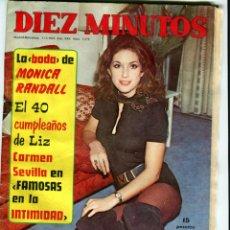Coleccionismo de Revista Diez Minutos: DIEZ MINUTOS Nº 1072 11-3-1972 MONICA RANDALL CARMEN SEVILLA ETC..... Lote 41270589