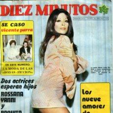 Coleccionismo de Revista Diez Minutos: DIEZ MINUTOS Nº 1130 21-4-1973 VICENTE PARRA PAQUITA RICO ETC..... Lote 41270678