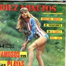 Coleccionismo de Revista Diez Minutos: DIEZ MINUTOS Nº 1146 11-8-1973 CRISTINA ONASSIS SUSANA MAYO ETC..... Lote 41270972