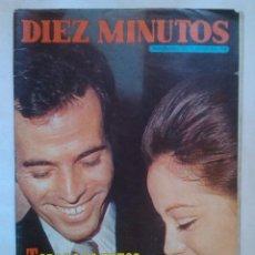 Coleccionismo de Revista Diez Minutos: REVISTA DIEZ MINUTOS Nº1014 FOTOS BODA JULIO IGLESIAS 1971 MIGUEL BOSE CONCHA VELASCO JACKIE ONASSIS. Lote 42165893