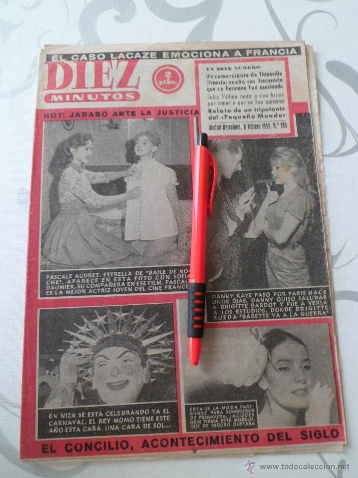 BRIGITTE BARDOT - MARILYN MONROE - SOFIA DAUMIER - PASCALE AUDRET EN 10 MINUTOS 1959 (Coleccionismo - Revistas y Periódicos Modernos (a partir de 1.940) - Revista Diez Minutos)