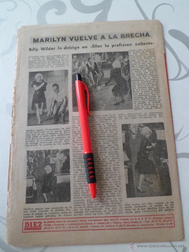 Coleccionismo de Revista Diez Minutos: BRIGITTE BARDOT - MARILYN MONROE - SOFIA DAUMIER - PASCALE AUDRET en 10 MINUTOS 1959 - Foto 2 - 42406664