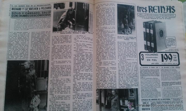 RECORTES LIZ TAYLOR RICHARD BURTON (Coleccionismo - Revistas y Periódicos Modernos (a partir de 1.940) - Revista Diez Minutos)