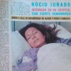 Coleccionismo de Revista Diez Minutos: RECORTES ROCIO JURADO. Lote 43107929