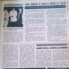 Coleccionismo de Revista Diez Minutos: RECORTES CARMEN SEVILLA IÑIGO. Lote 43107941