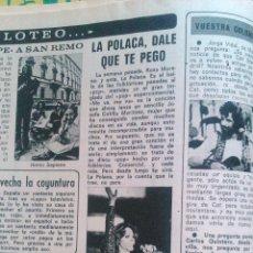 Coleccionismo de Revista Diez Minutos: RECORTES LA POLACA CAT STEVENS. Lote 43119494