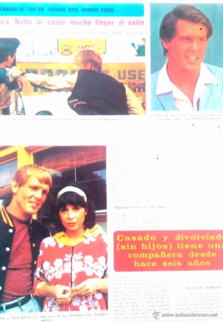 RECORTES NICK NOLTE (Coleccionismo - Revistas y Periódicos Modernos (a partir de 1.940) - Revista Diez Minutos)