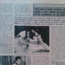 Coleccionismo de Revista Diez Minutos: RECORTES SOFIA LOREN. Lote 43119666