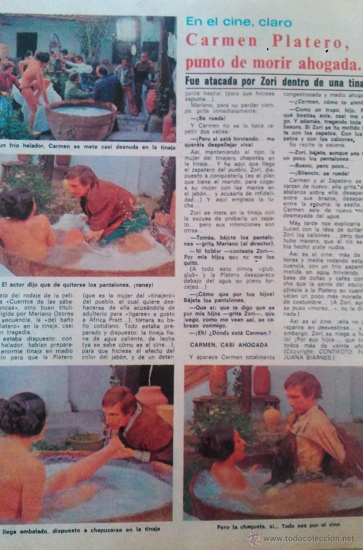 RECORTES CARMEN PLATERO (Coleccionismo - Revistas y Periódicos Modernos (a partir de 1.940) - Revista Diez Minutos)