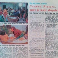 Coleccionismo de Revista Diez Minutos: RECORTES CARMEN PLATERO. Lote 43119712