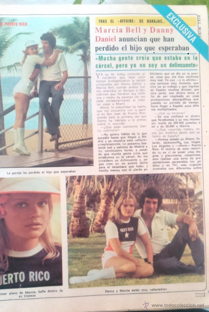 RECORTES MARCIA BELL DANNY DANIEL (Coleccionismo - Revistas y Periódicos Modernos (a partir de 1.940) - Revista Diez Minutos)