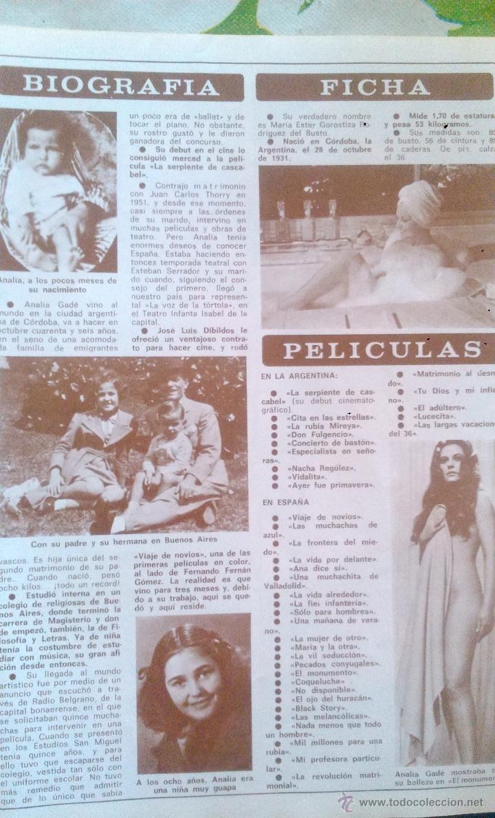 Coleccionismo de Revista Diez Minutos: SEX POSTER ANALIA GADE DIEZ MINUTOS - Foto 2 - 43119802