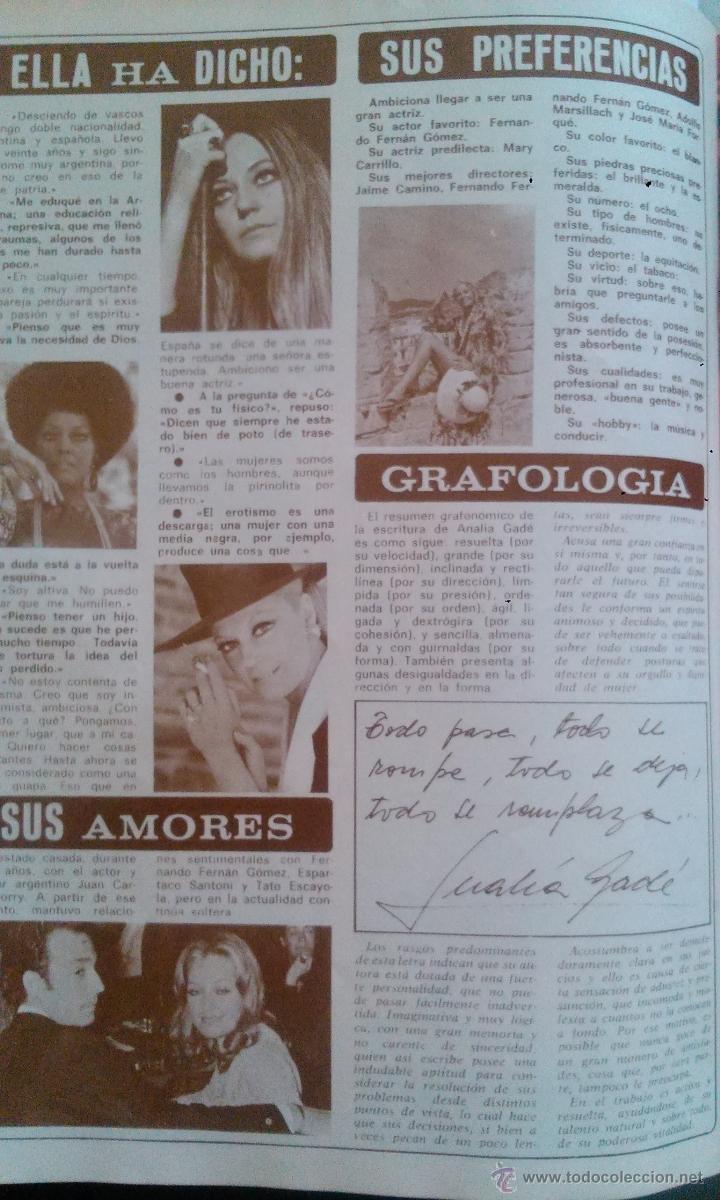 Coleccionismo de Revista Diez Minutos: SEX POSTER ANALIA GADE DIEZ MINUTOS - Foto 3 - 43119802