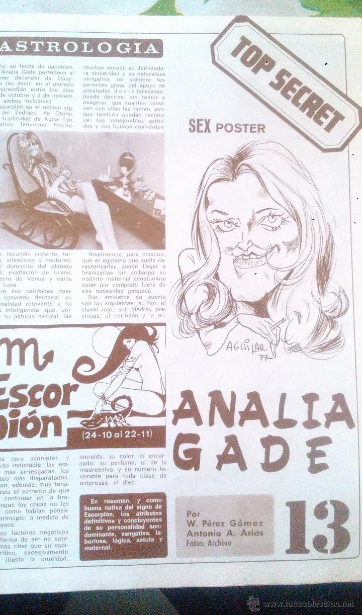 Coleccionismo de Revista Diez Minutos: SEX POSTER ANALIA GADE DIEZ MINUTOS - Foto 4 - 43119802