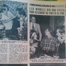 Coleccionismo de Revista Diez Minutos: RECORTES DE LIZA MINNELLI MENELLI BURT REYNOLDS GEORGE HAMILTON RYAN ONEAL. Lote 43157245