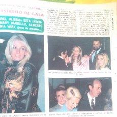 Coleccionismo de Revista Diez Minutos: RECORTES DE MARY CARRILLO BLANCA ESTRADA VICTORIA VERA ROCIO JURADO HURTADO ALBERTO CLOSAS . Lote 43157252