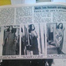 Coleccionismo de Revista Diez Minutos: RECORTES DE MARILU TOLO. Lote 43157257