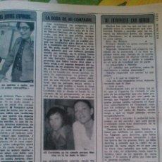 Coleccionismo de Revista Diez Minutos: RECORTES DE RAPHAEL NATALIA FIGUEROA EL CORDOBES. Lote 43157260
