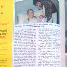 Coleccionismo de Revista Diez Minutos: RECORTES DE JUAN PARDO. Lote 43157263