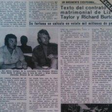 Coleccionismo de Revista Diez Minutos: RECORTES DE LIZ ELIZABETH TAYLOR RICHARD BURTON. Lote 43157274
