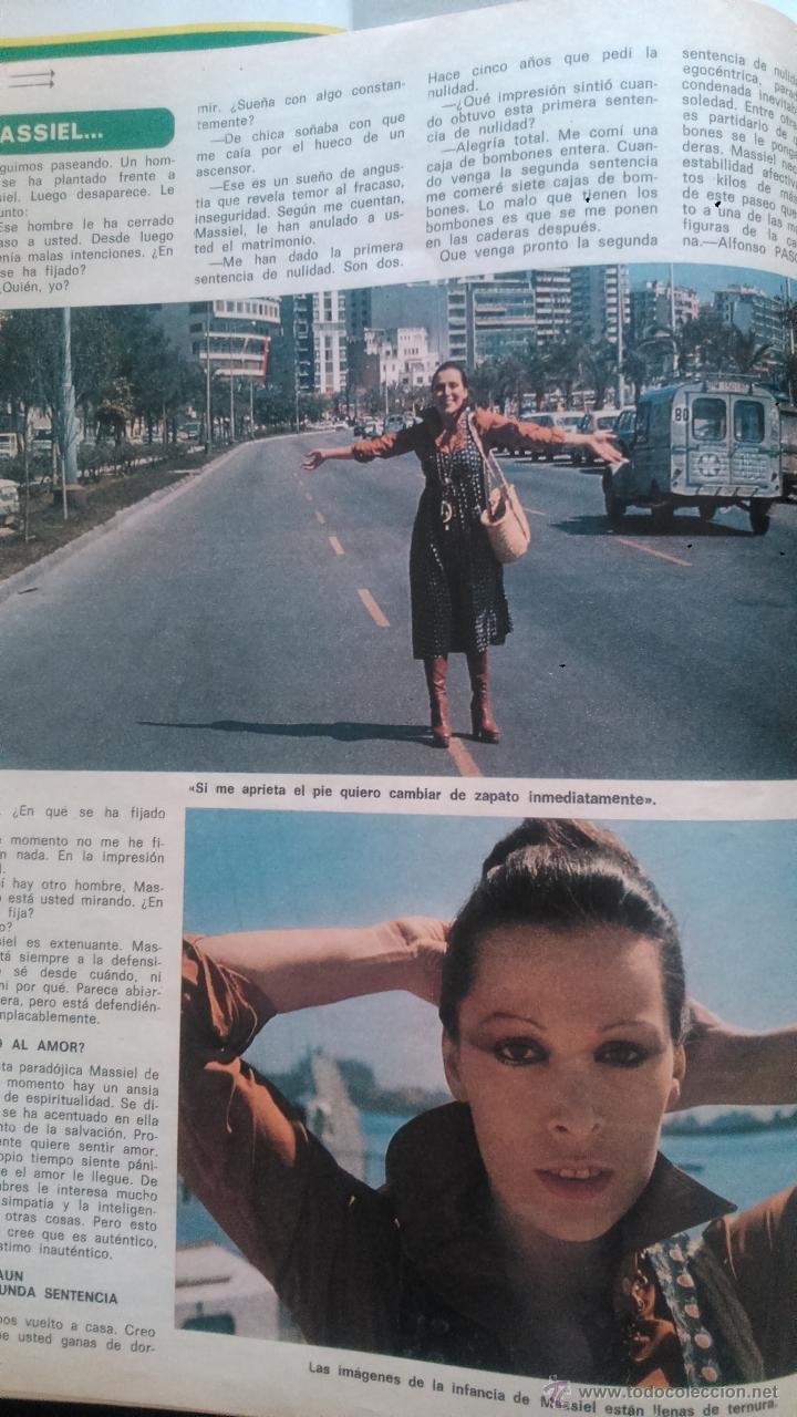 Coleccionismo de Revista Diez Minutos: recortes de MASSIEL MASIEL (falta un trozo) - Foto 2 - 43157275