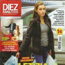 Coleccionismo de Revista Diez Minutos: DIEZ MINUTOS 3254. 1 DE ENERO DE 2014. LETIZIA DE COMPRAS NAVIDEÑAS COMO UNA MÁS.. Lote 43331532