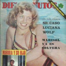 Coleccionismo de Revista Diez Minutos: DIEZ MINUTOS CON MARISOL YA SOLTERA - ATRACO A MASSIEL Nº 1250 DE 1975. Lote 43755811