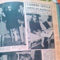 Coleccionismo de Revista Diez Minutos: RECORTES DE CARMEN SEVILLA. Lote 43888281