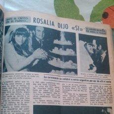 Coleccionismo de Revista Diez Minutos: RECORTES ROSALIA. Lote 43893275