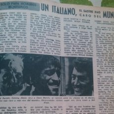 Coleccionismo de Revista Diez Minutos: RECORTES DE RICHARD BURTON SAMMY DAVIS DEAN MARTIN. Lote 43902831