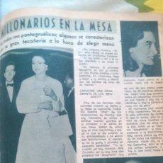 Coleccionismo de Revista Diez Minutos: RECORTES CAPUCINE ELIZABETH TAYLOR LYZ RICHARD BURTON TONY ARMSTRONG MARIA CALLAS. Lote 43906530