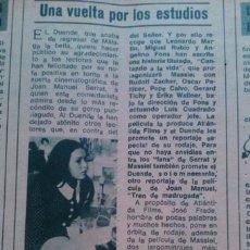 Coleccionismo de Revista Diez Minutos: RECORTES MASSIEL CANTANDO A LA VIDA. Lote 43943174