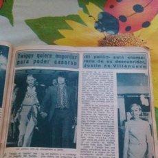 Coleccionismo de Revista Diez Minutos: RECORTES TWIGGY. Lote 43944635