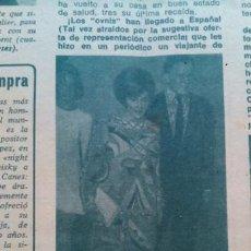 Coleccionismo de Revista Diez Minutos: RECORTES LIZ TAYLOR ELIZABETH RICHARD BURTON. Lote 43944979