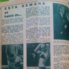 Coleccionismo de Revista Diez Minutos: RECORTES ALAIN DELON ROMY SCHNEIDER SEAN FLYN GEORGE HAMILTON. Lote 43945023