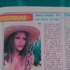 Coleccionismo de Revista Diez Minutos: RECORTES BLANCA ESTRADA. Lote 44050956
