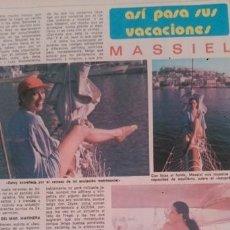 Coleccionismo de Revista Diez Minutos: RECORTES MASSIEL. Lote 44050988